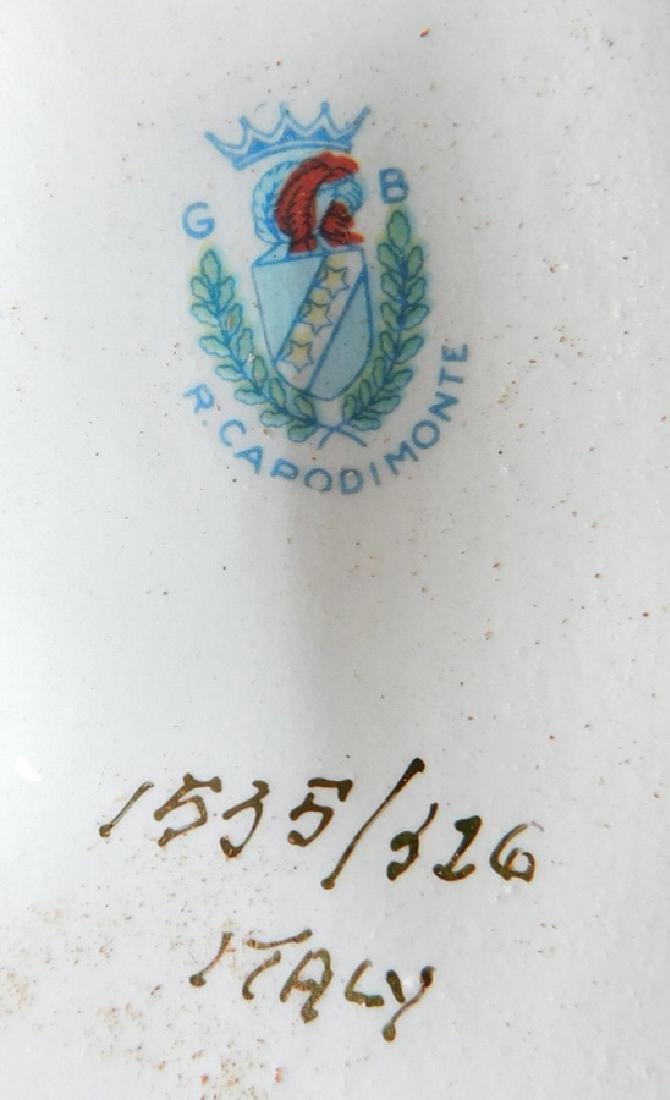 "Pair of Italian Capodimonte vases. 17"" tall. - 6"
