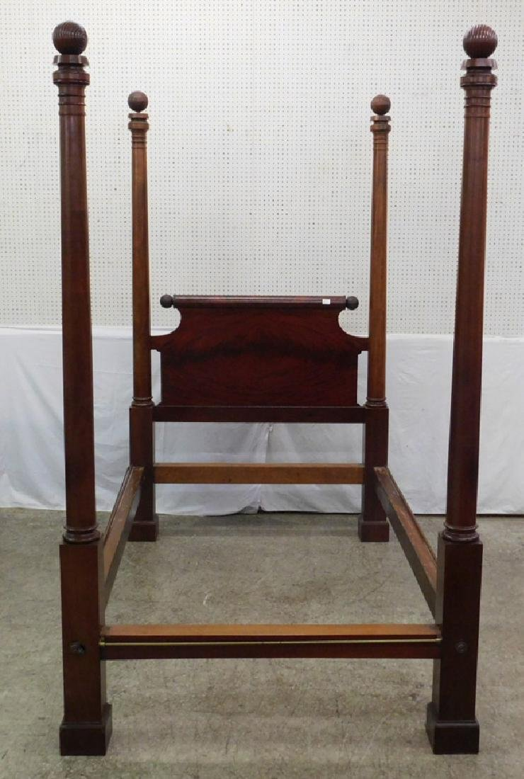 Mahogany four poster Empire antique bed.