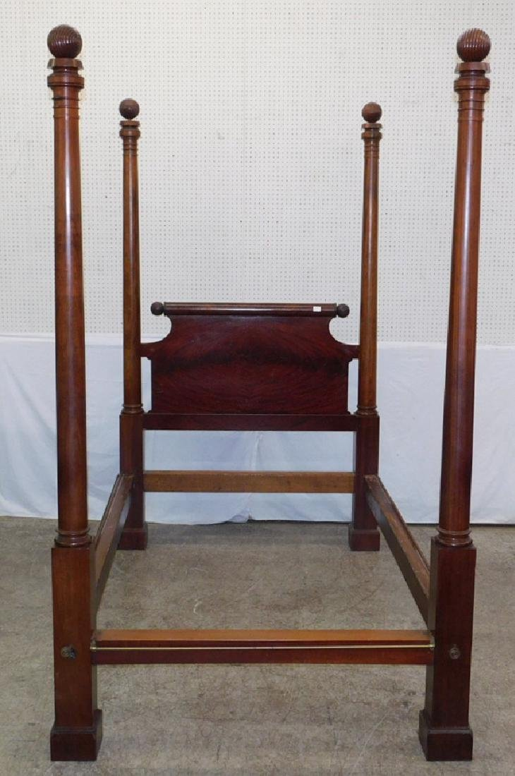 Mahogany four poster Empire antique bed. - 2