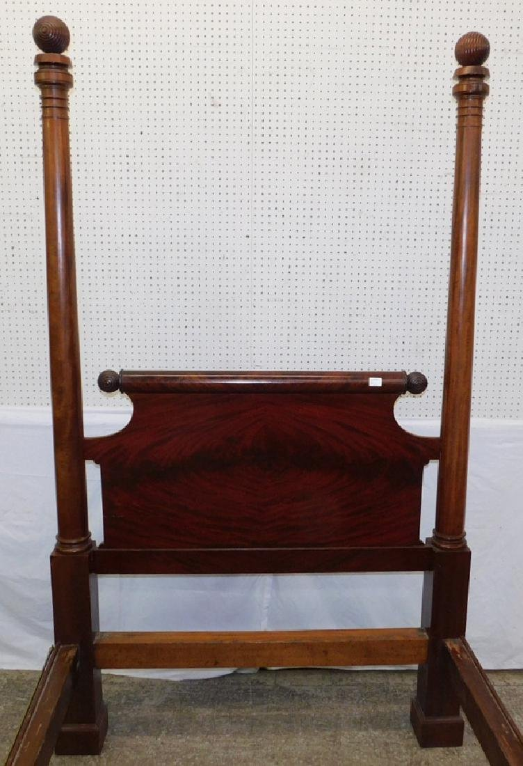 Mahogany four poster Empire antique bed. - 3