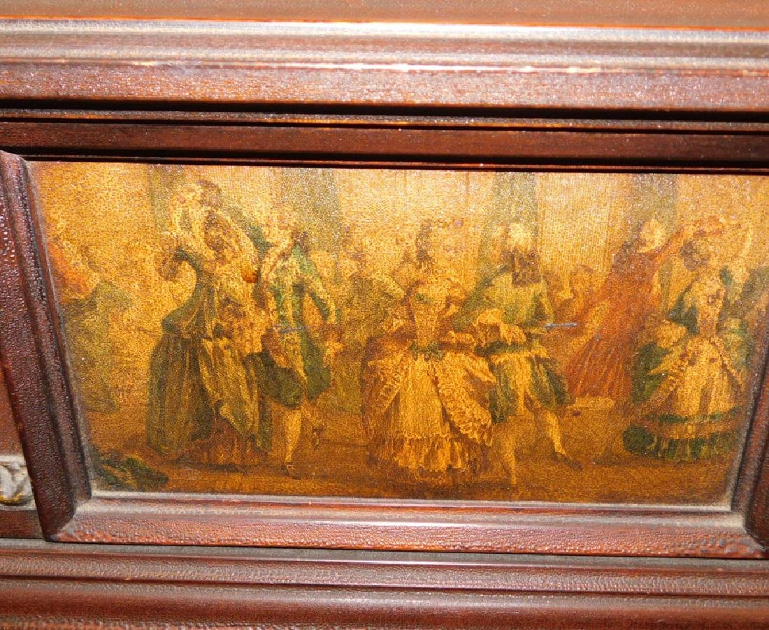 Adams style paint decorated high chest. - 3