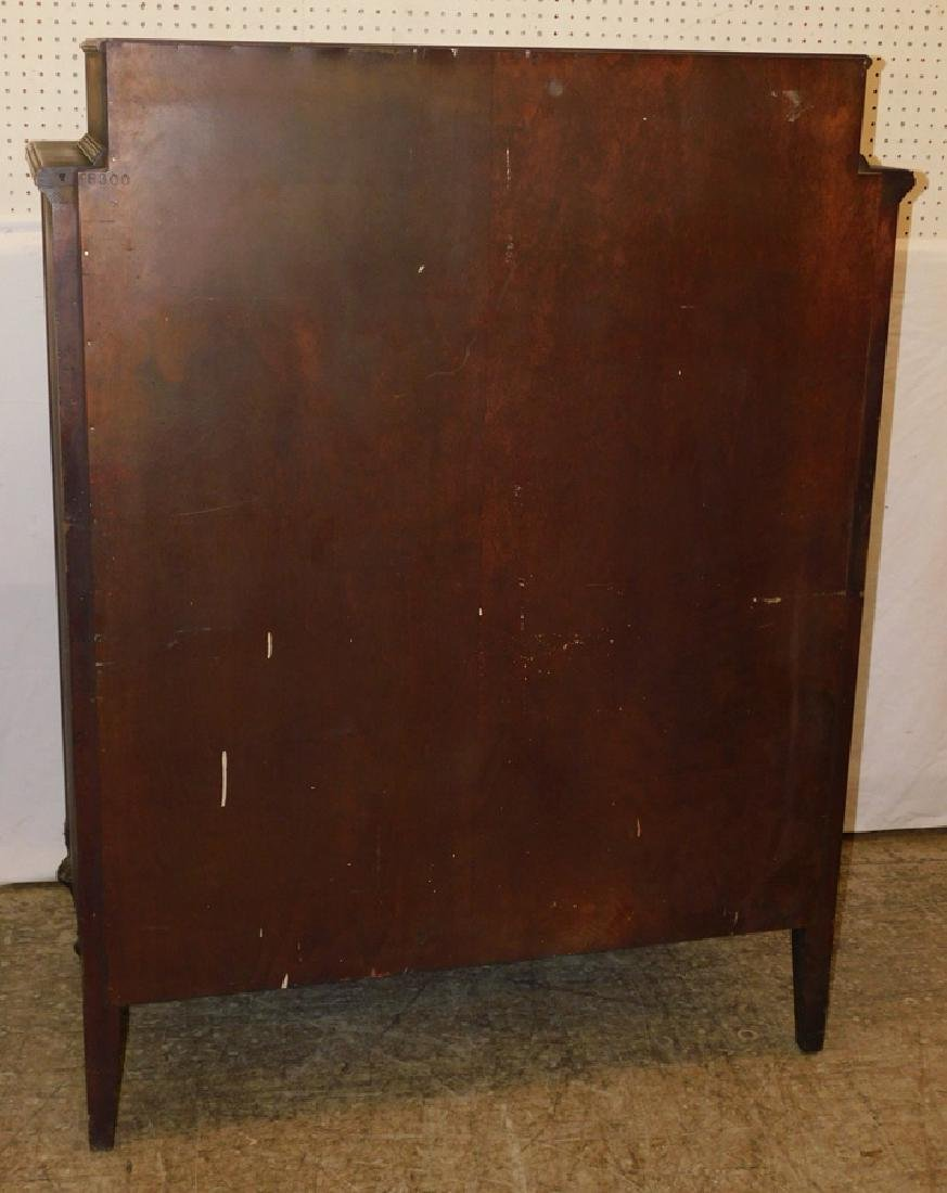 Adams style paint decorated high chest. - 4