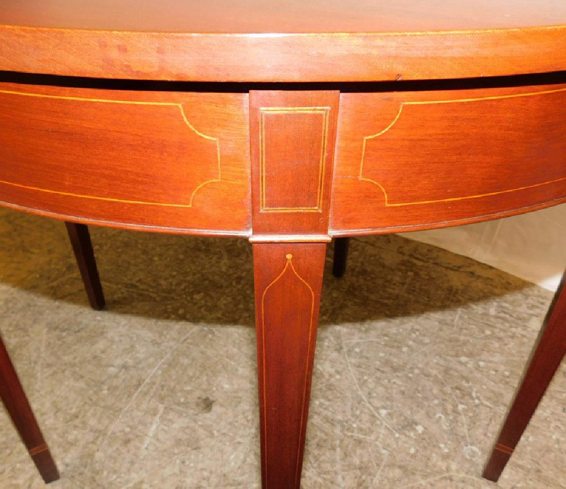 Inlaid HW fold over cabinet makers game table. - 5