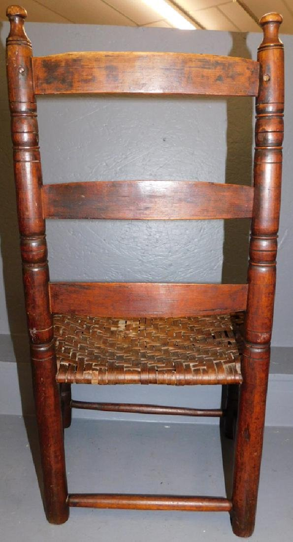 Childs 19th century country ladder back chair. - 2