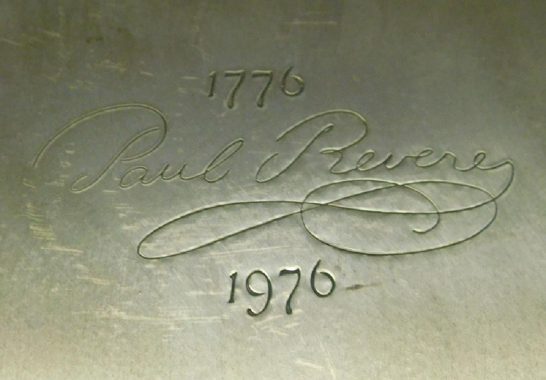 4 Paul Revere copper cooking pots, 4 copper pans - 3