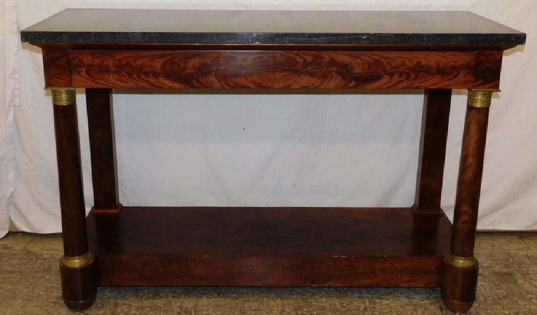 19th c French Empire marble top pier console.