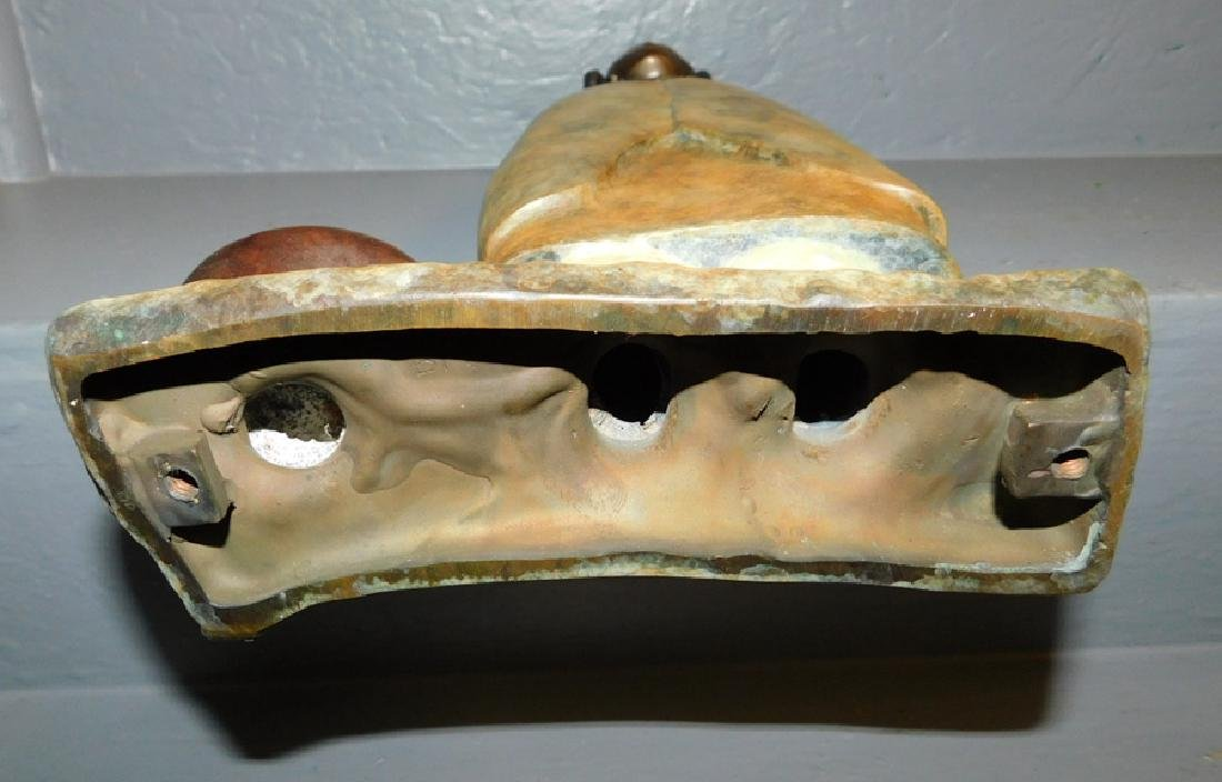 "Bronze Inuit figure. 15"" tall. - 4"