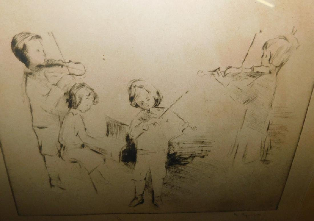 2 signed pen and ink drawings, Andi Artigne, 1914. - 4