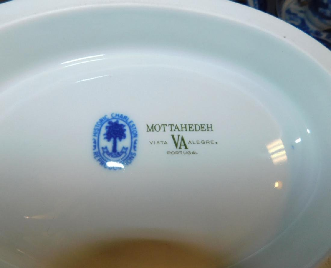 Mottahedeh Canton soup tureen w 8 cups & saucers. - 3
