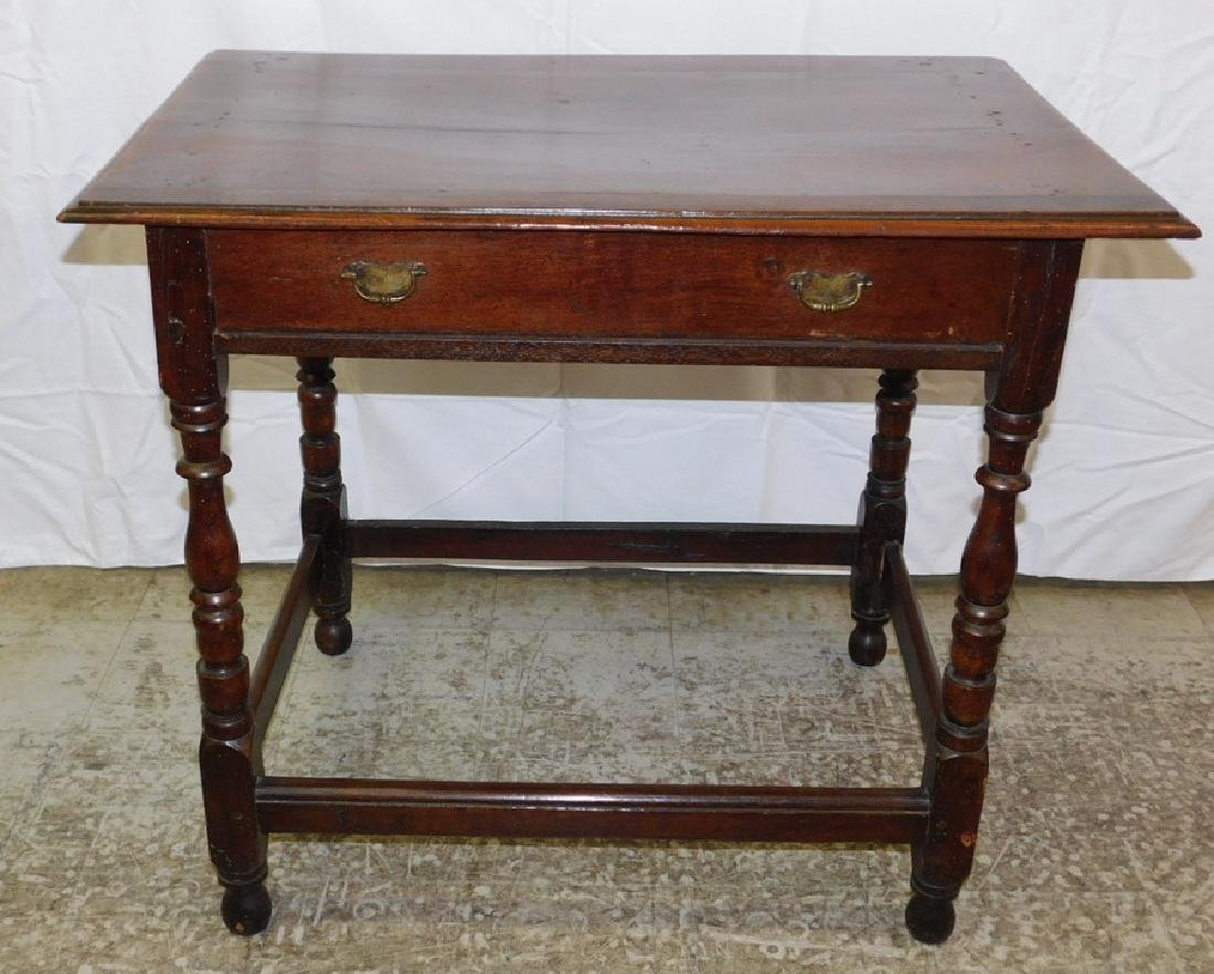 18th c William and Mary single dr tavern table.