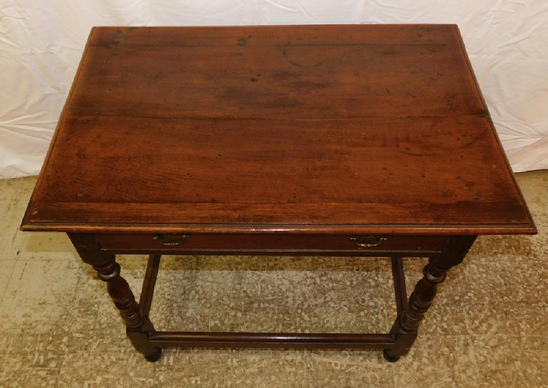 18th c William and Mary single dr tavern table. - 2