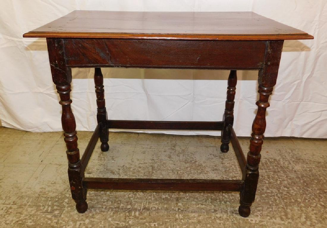 18th c William and Mary single dr tavern table. - 3