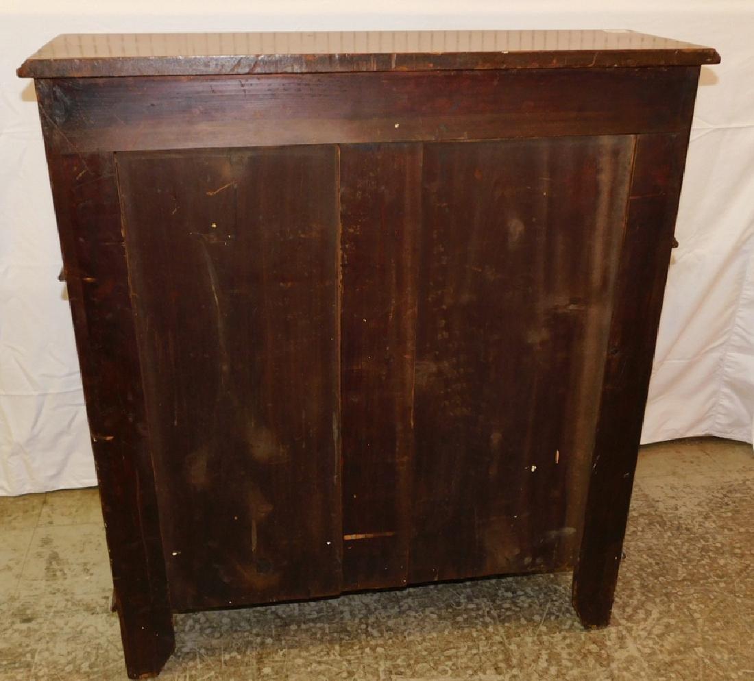 Edwardian mahogany Cylinder roll desk. - 3