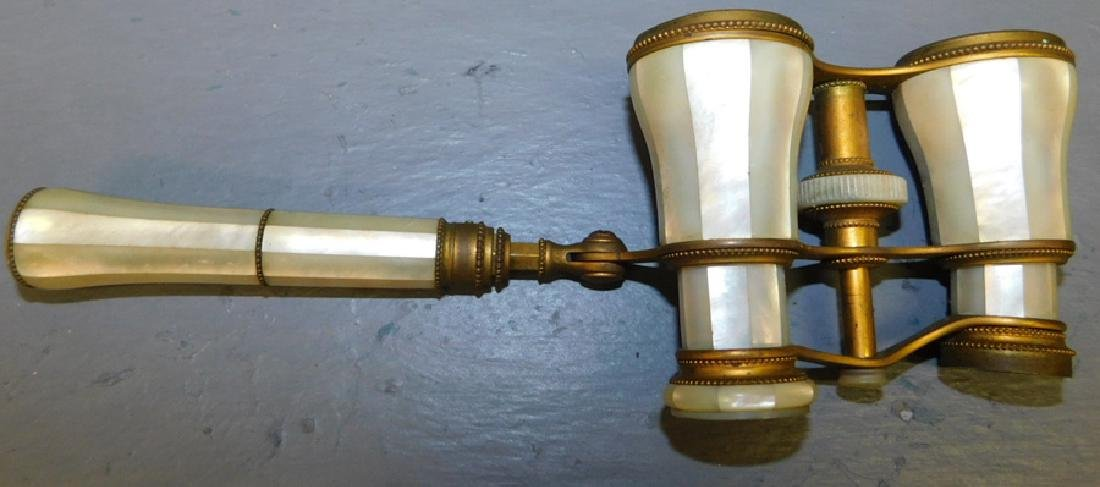 Mother of pearl opera glasses. - 2
