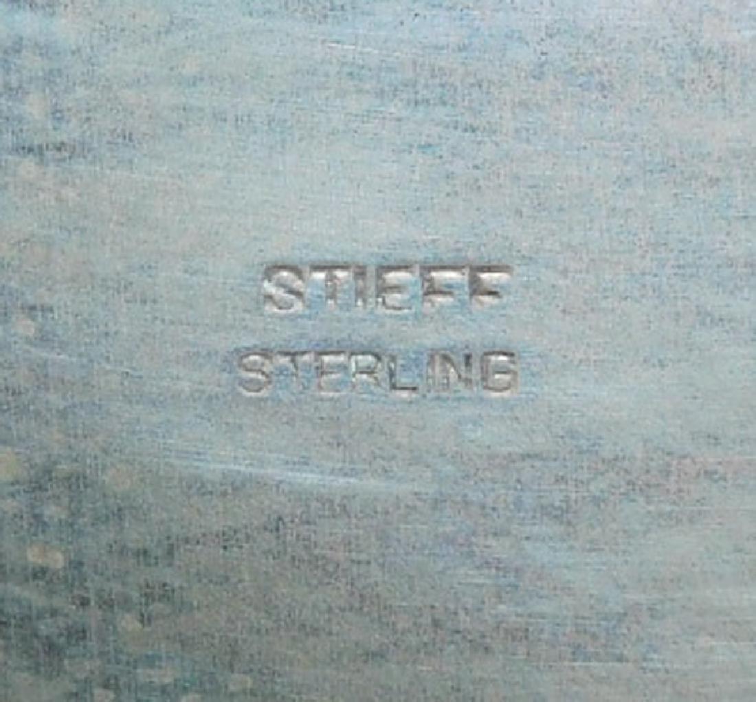 Stieff Sterl. presentation tray for Bill Burgwyn. 19 - 4
