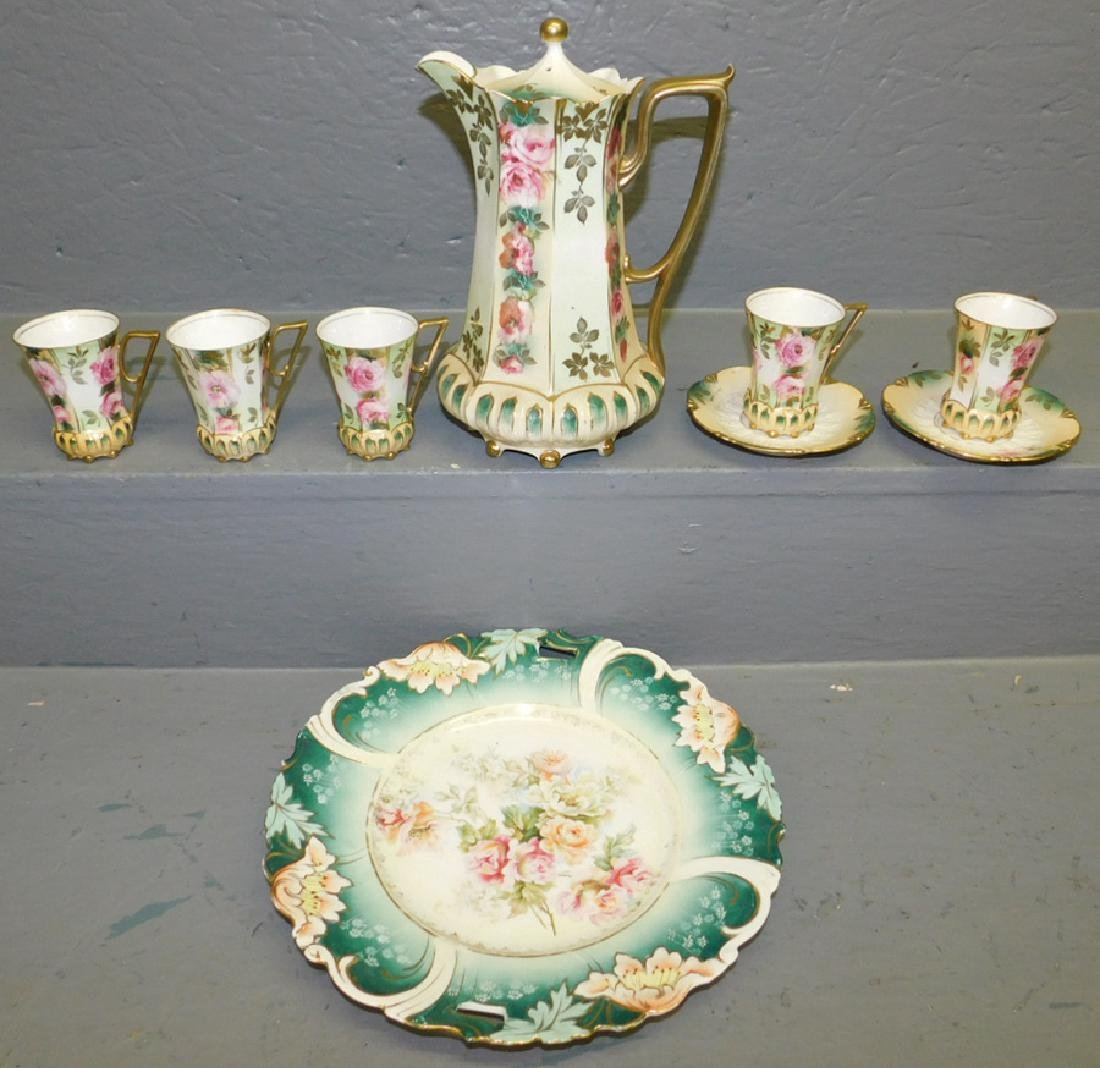 9 pc. RS Prussia chocolate set & odd serving plate