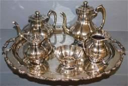 Avalos Mex sterl tea serv. w A Torres Vega tray.