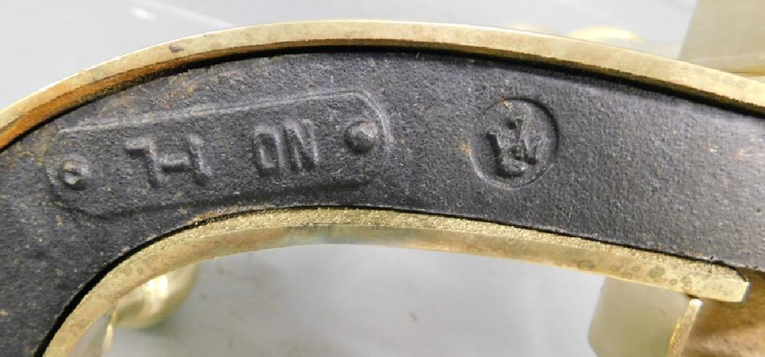 Virginia Metalcraft cannonball brass andirons. - 3