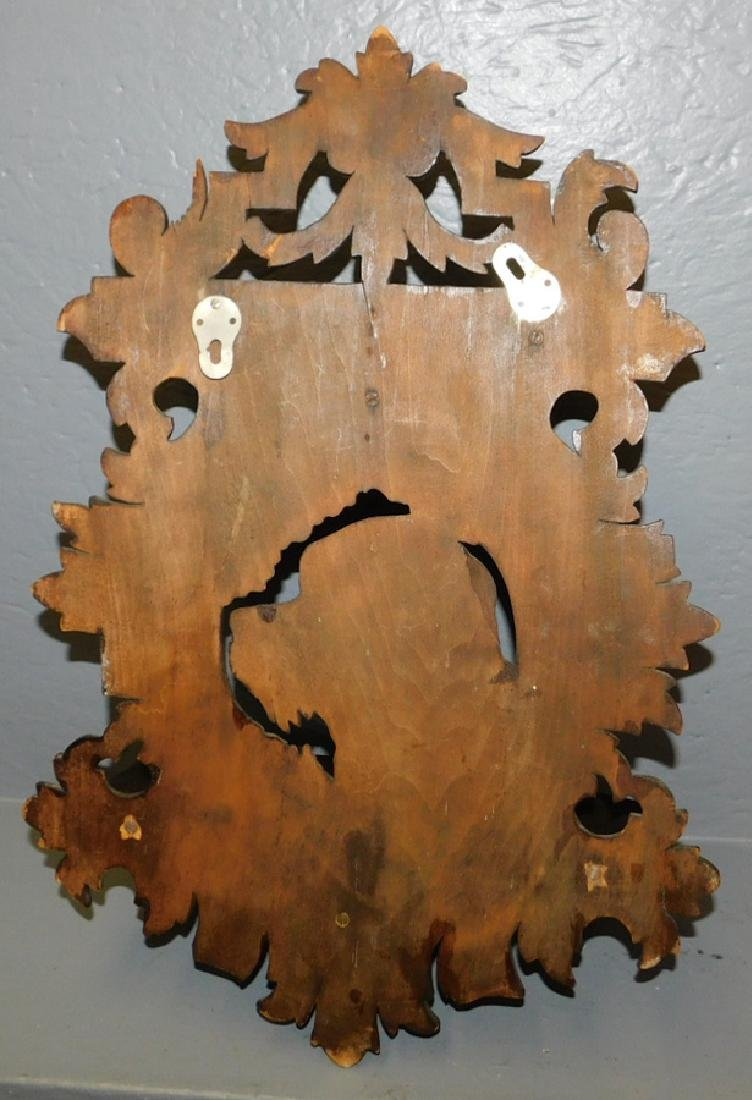 Black Forest carved shelf with dog's head. - 2