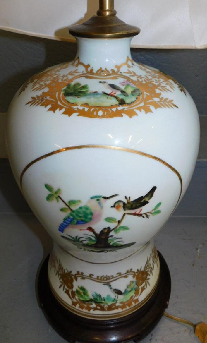 """Pair Maitland Smith vase lamps. 32"""" tall to finial. - 2"""