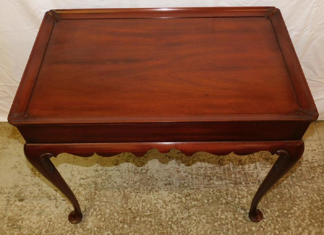 CW Kittinger mahogany tea table with candle slides. - 2
