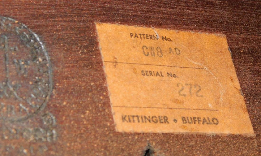 CW Kittinger mahogany tea table with candle slides. - 4