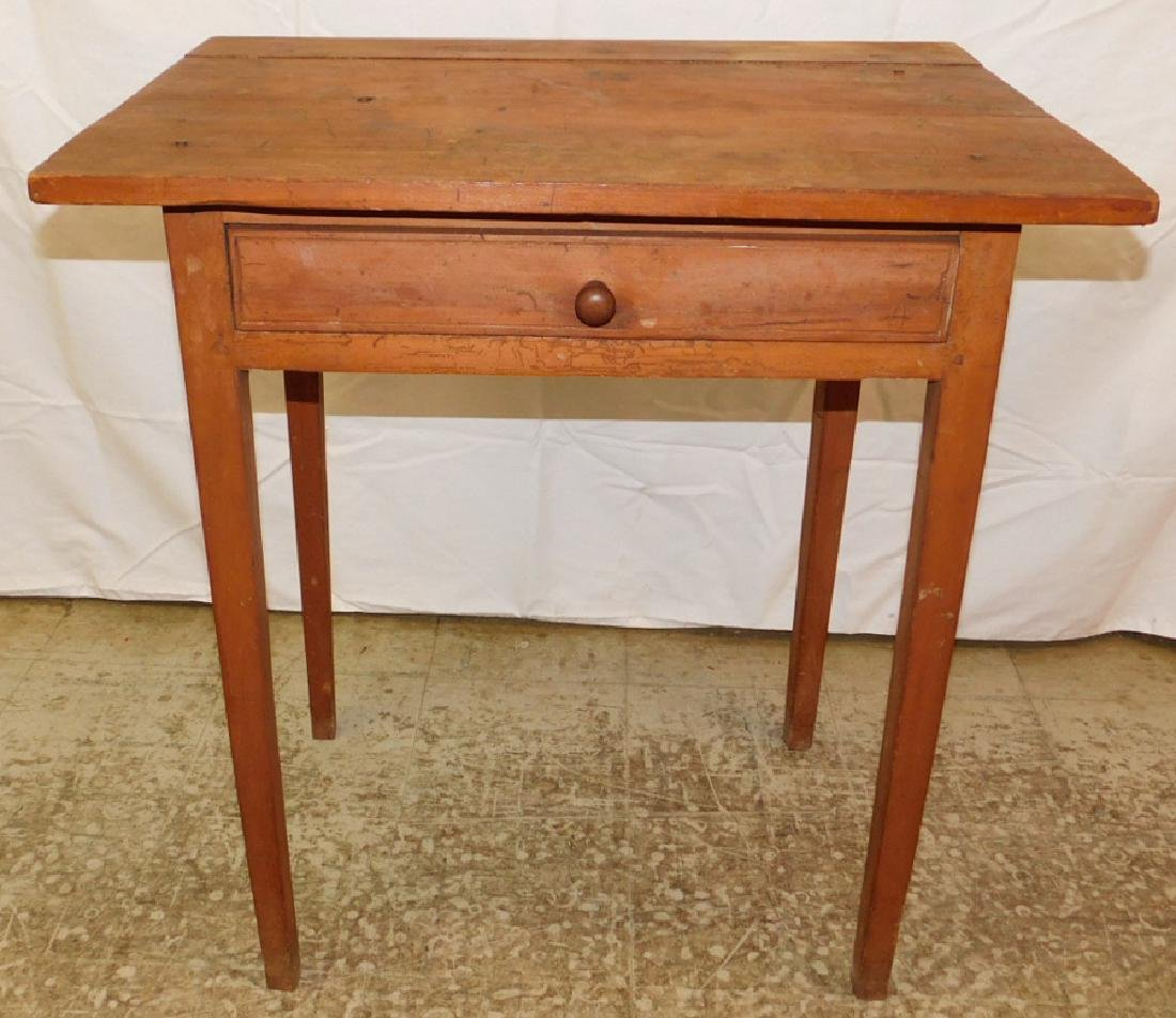NC primitive cherry one drawer work table