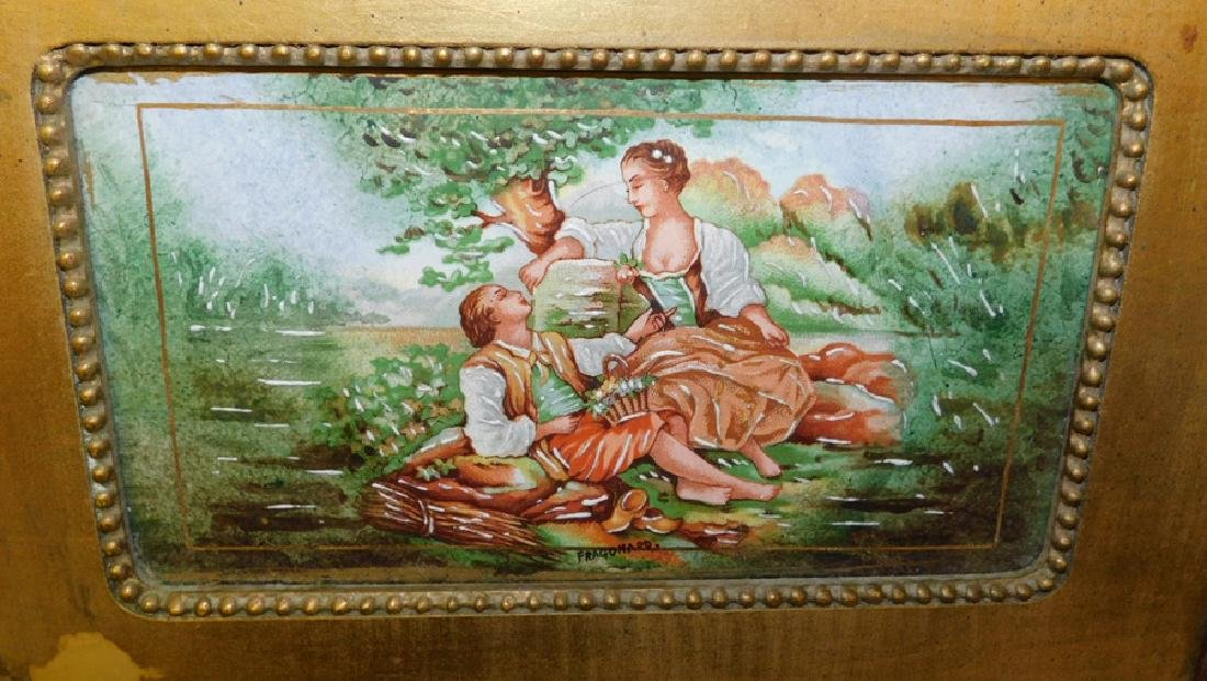 """2 framed porcelain enamel plaques. 16"""" x11 1/2"""". - 2"""