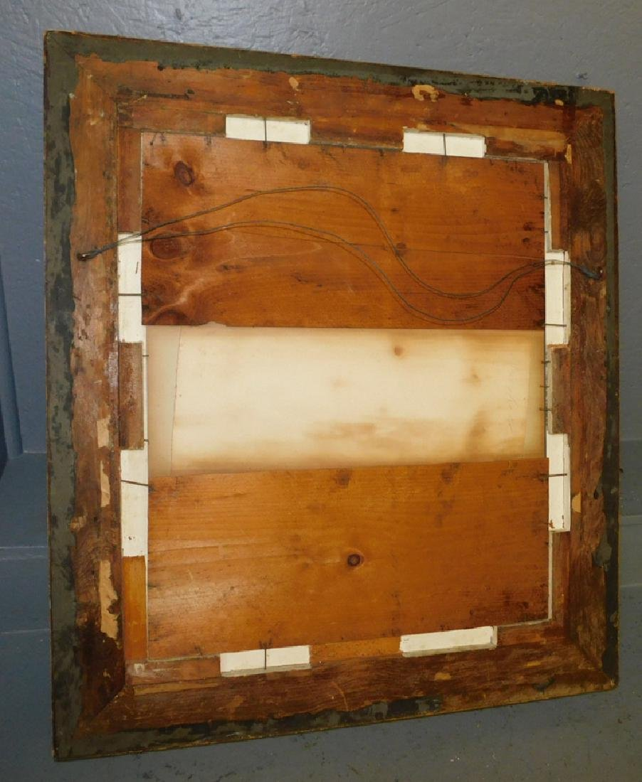 "Gold leaf oval framed mirror. 28 1/2"" x 32"". - 2"