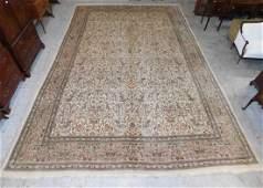 """13'8"""" x 19'4"""" Handmade Tabriz room size rug."""