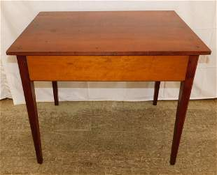 NC early 19th C cherry 2 drawer table