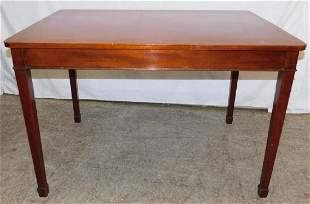 19th C mahogany work table