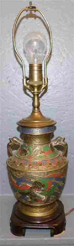 Champleve lamp