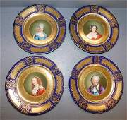 Set 4 Royal Vienna J Auheim portrait plates