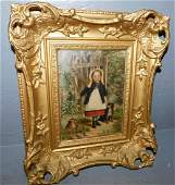 Antique Framed OOC, signed W.F. Hardy.