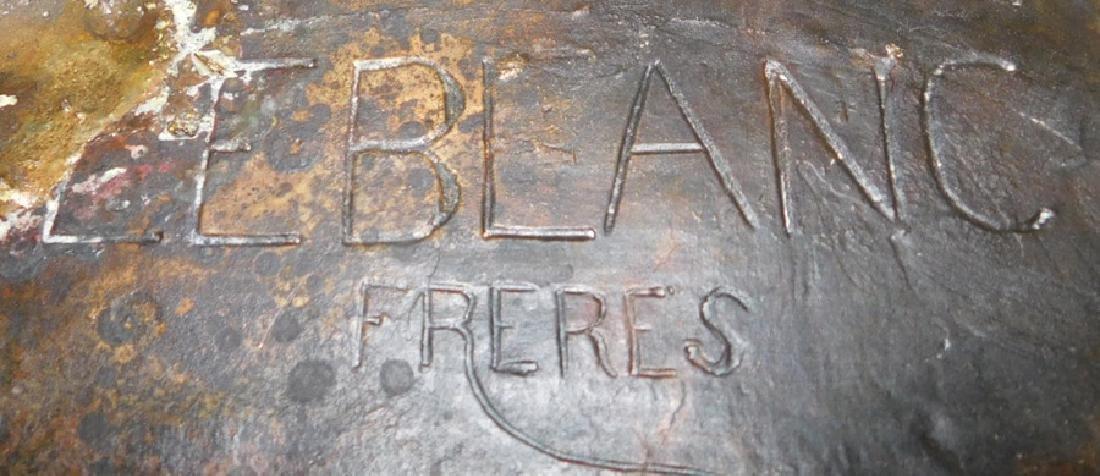 Leblanc Freres bronze inkwell. - 5