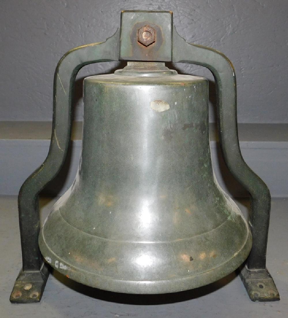 19th C bronze bell.
