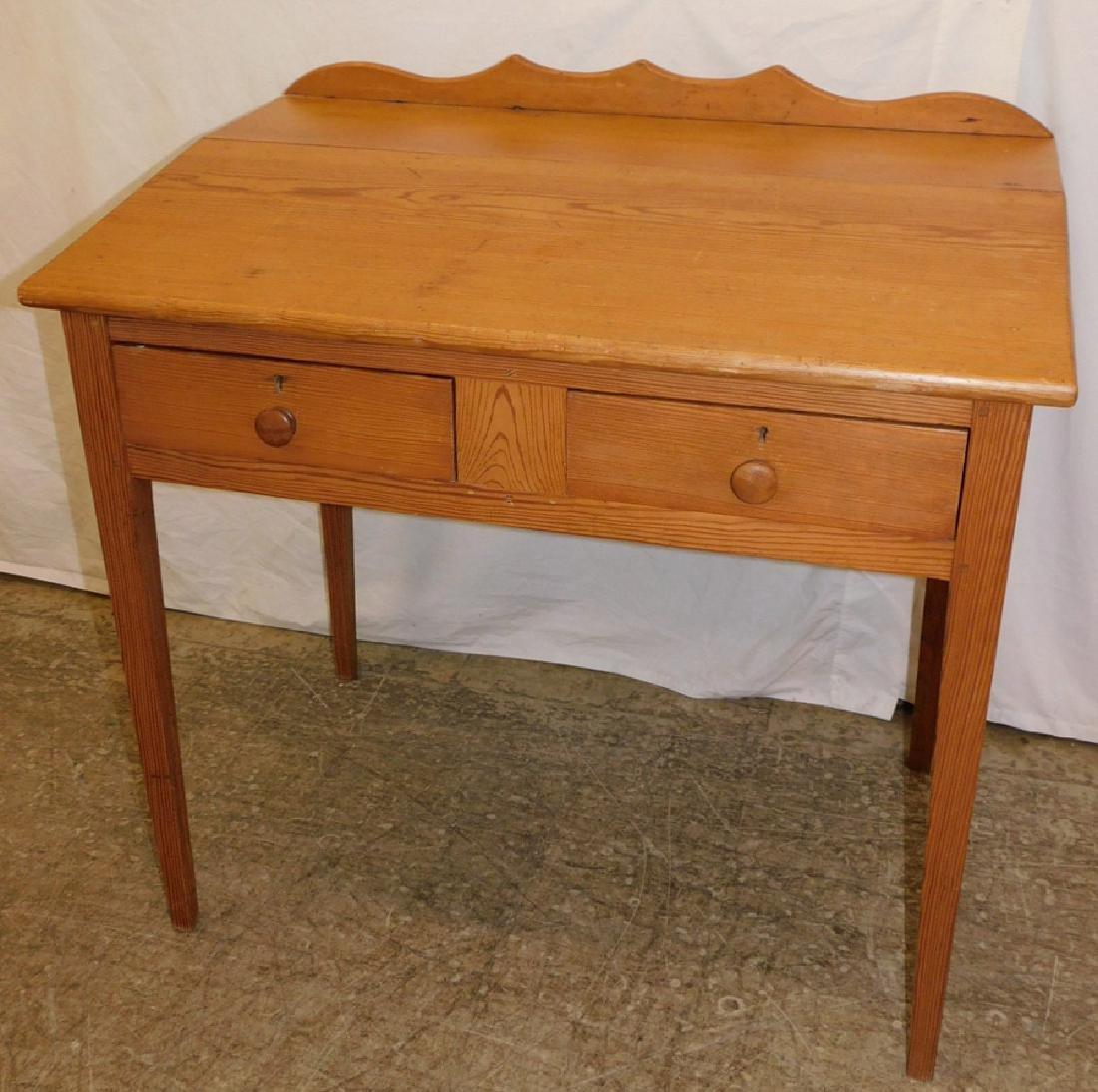 Heart or Yellow pine Southern school desk.