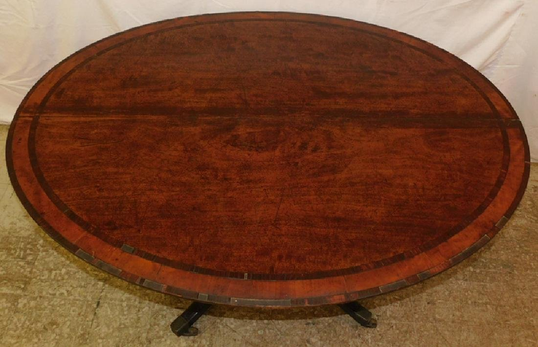 Hepplewhite oval breakfast mahogany Center table. - 2