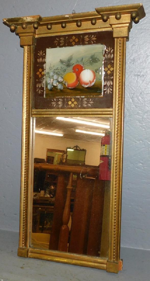 Reverse painted Adams style mirror
