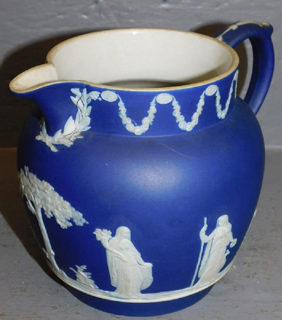 Wedgwood blue Jasperware pitcher