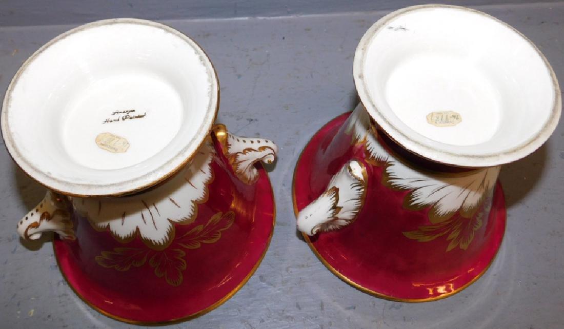 Pr. Old Paris cache pots & tea pot - 2