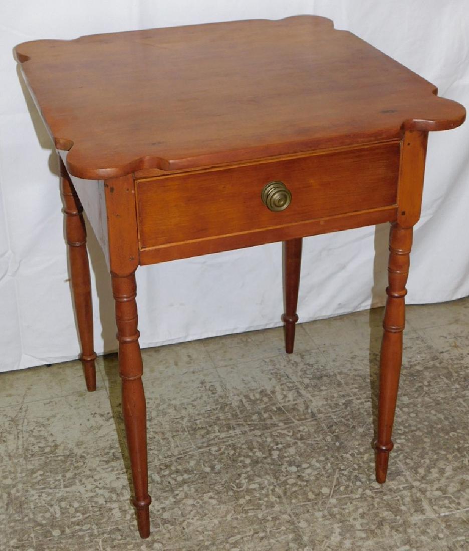 Shaped top American cherry NE work table