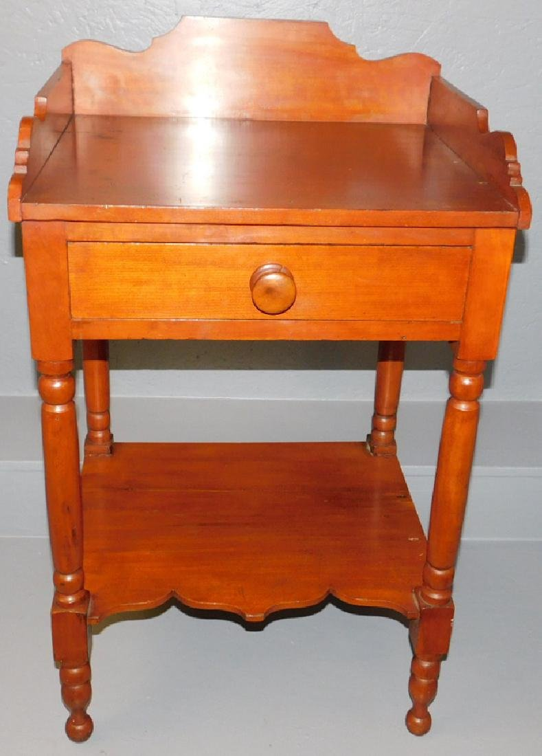 American cherry 19th C wash stand.