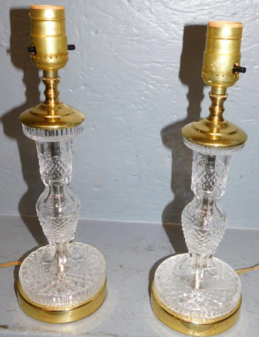 Pair of beautiful Waterford lamps.