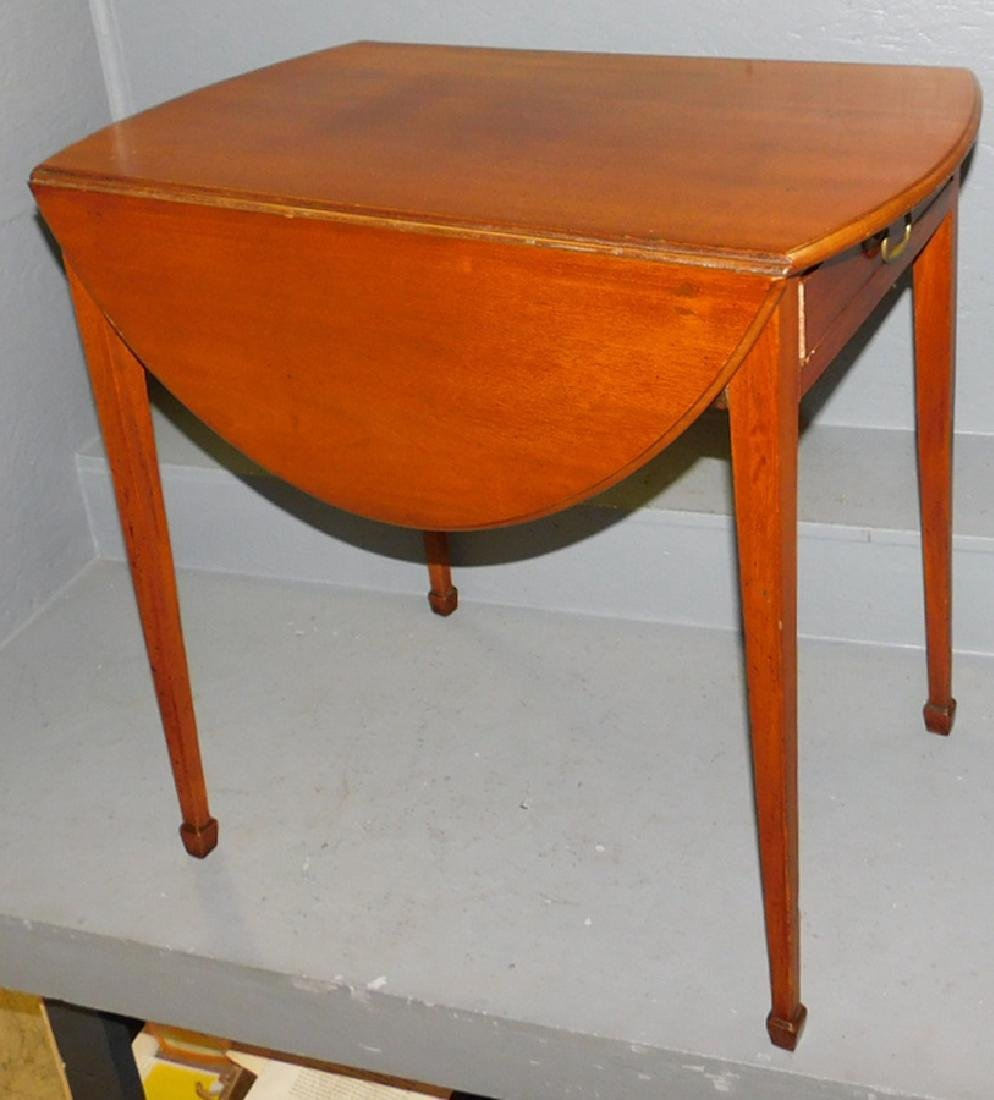19th C English HW mahogany Pembroke table