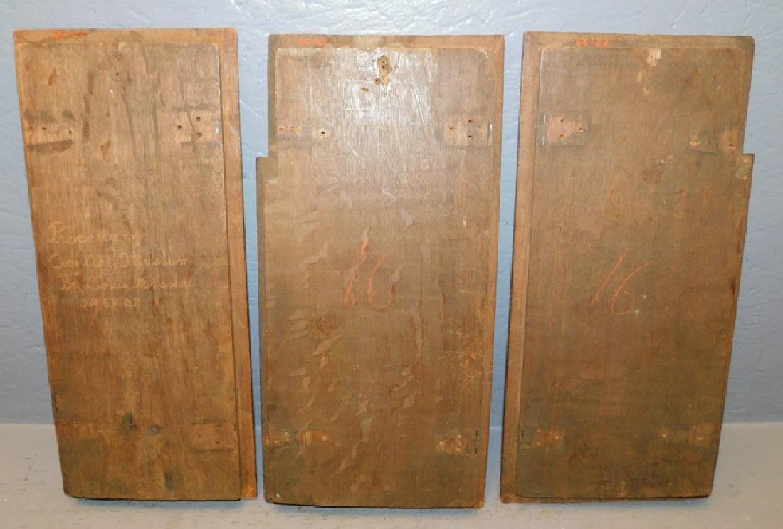 3 carved 18th C  French panels. - 2