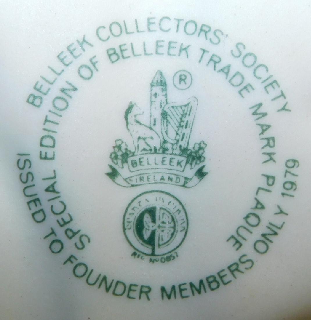 19 pcs. Irish Belleek black & green marked china. - 2
