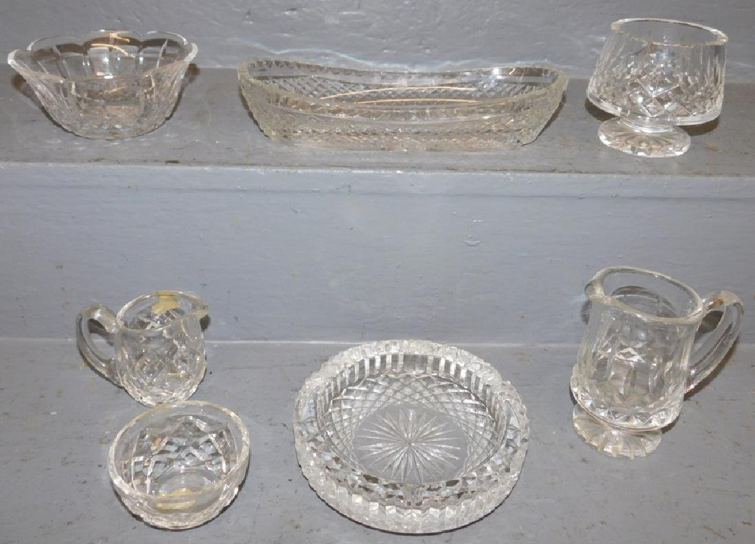 6 pc. Waterford crystal & 1 unsigned