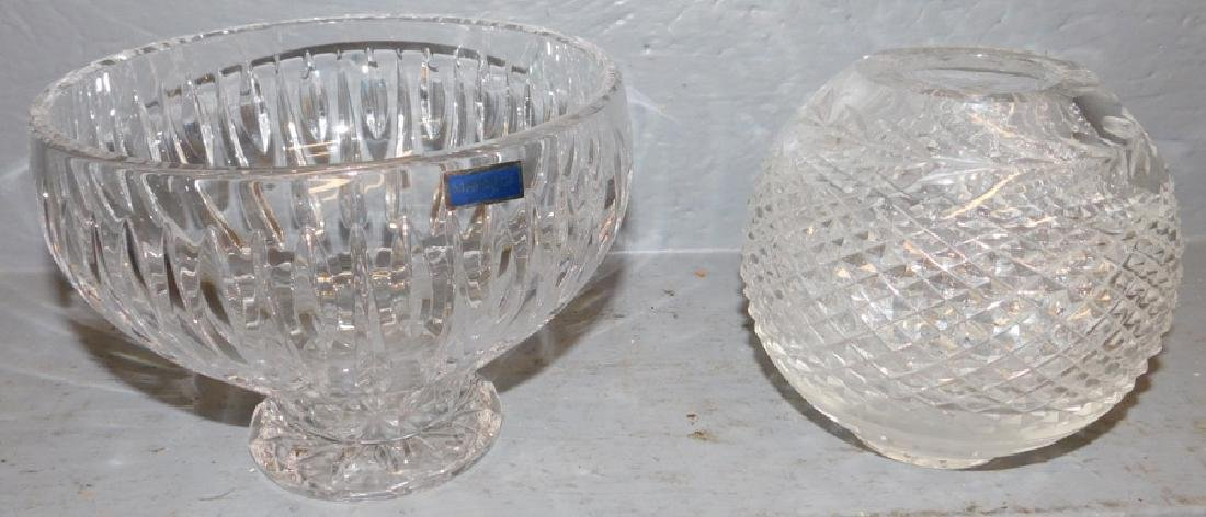 Waterford pedestal bowl & rose bowl